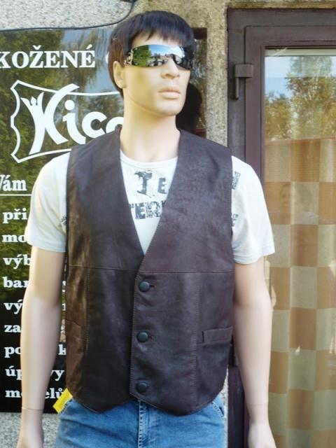 Pánská kožená vesta